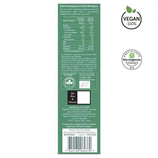 Oleum fruttato delicato BIO etichetta